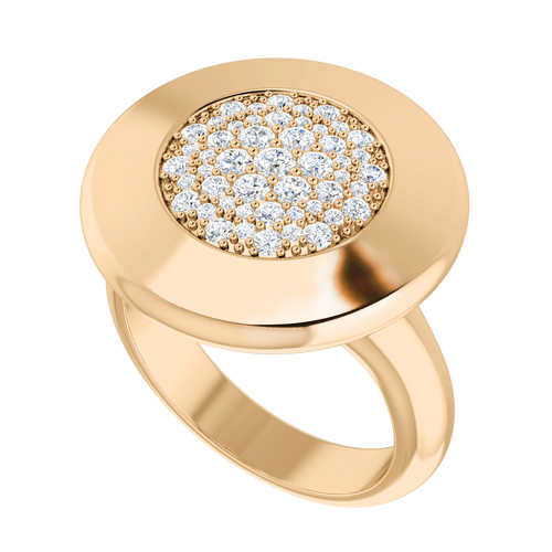 Diamond Raindrops Ring 9 Carat Rose Gold