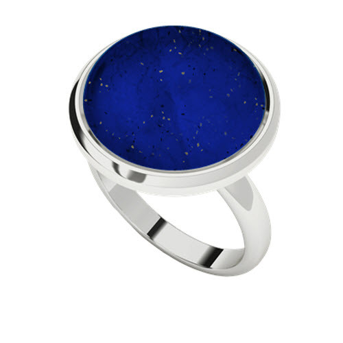 Lapis Lazuli Sterling Silver Cabochon Cocktail Ring