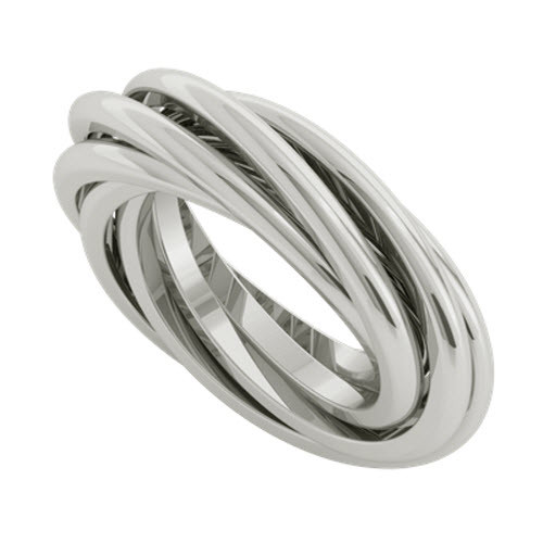 Double Russian Wedding Ring - Gemelle 9ct White Gold