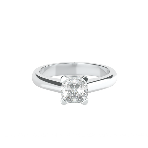 Cushion Cut 4 Square Claw Solitaire Engagement Ring - 'Tuscany'