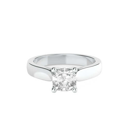 Cushion Cut 4 Square Claw Solitaire Engagement Ring - 'Sevilla'