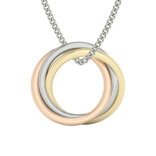 Russian Ring Necklace - The 'Alexandra' 9ct Multi Gold