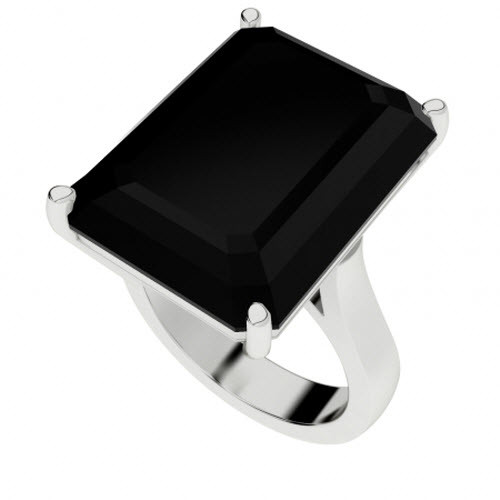 Onyx Sterling Silver Cocktail Ring