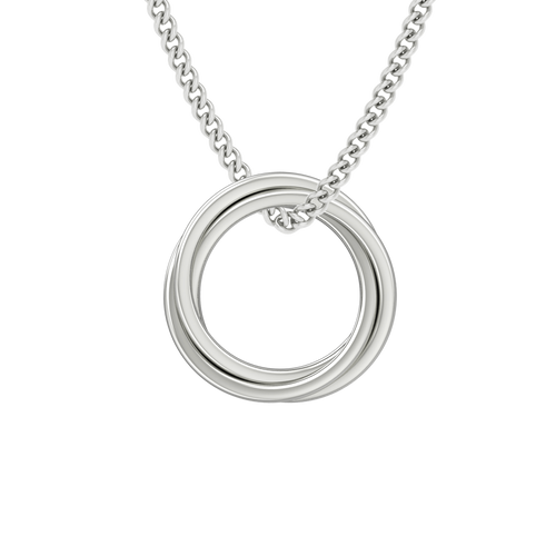 Russian Ring Necklace - the 'Zara' Sterling Silver