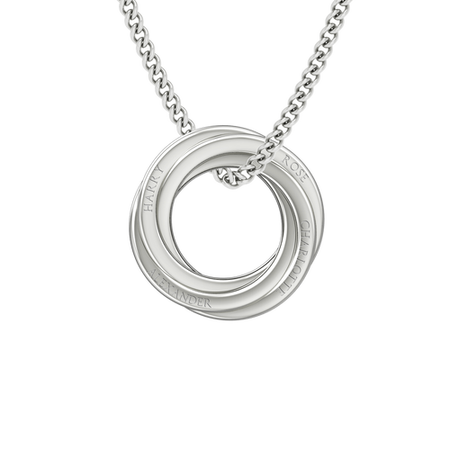 Russian Ring Necklace - the 'Cate' Sterling Silver