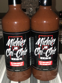 Two bottles of the Michies and Chi Chis  mix