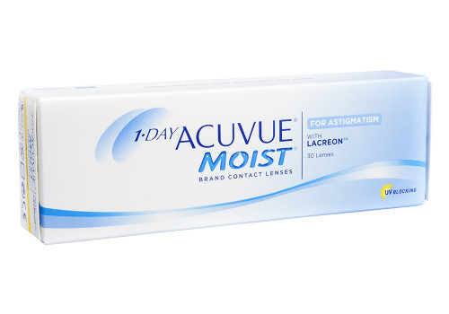 1-Day Acuvue Moist for Astigmatism - 30 Pack Front