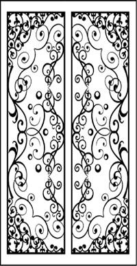 Double Door Pattern Dd6 Faux Wrought Iron Window Inserts