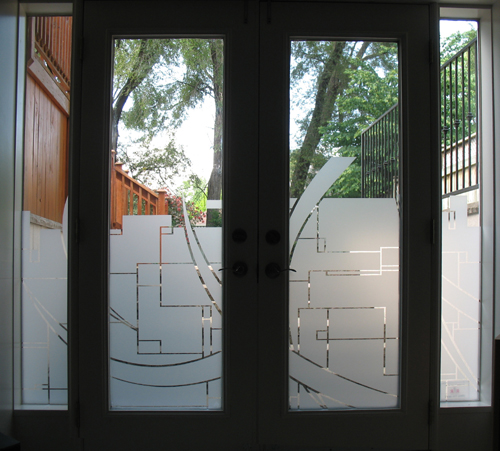 Toronto Residential Window Graphic For The Look Of Etched