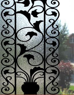 Faux Wrought Iron By Apex Window Films Decorative Safety