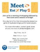 Eat Meet Play Flier