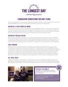 The Longest Day Fundraising Ideas