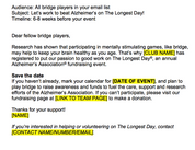 Player Recruitment Email Template