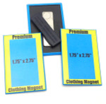 1.75 Inch x 2.75 Inch Rectangle Clothing Magnet Button