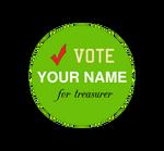 Class treasurer button