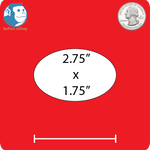 "2.75"" Oval Custom Magnets"