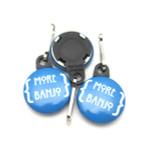 "1"" Round Zipper Pull - More Banjo"