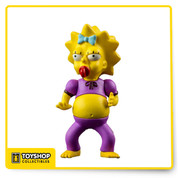 Woo hoo! Celebrate 25 years of The Simpsons! Throughout their long run, The Simpsons have gone through a lot of changes, and now you can get a fun version of Maggie in a pink jumpsuit as a 2 1/2-inches tall action figure! The Simpsons Maggie Pink Jumpsuit 2 1/2-Inch Series 2 Action Figure looks fantastic. Ages 14 and up.