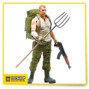 The Walking Dead Comic Series 4 Abraham Ford Action Figure depicts Abraham Ford in his iconic white muscle shirt, fatigues and combat boots. Abraham Ford also includes an assault rifle, backpack, pistol and pitchfork. Abraham Ford stands approximately 5-inches tall. Sgt. Abraham Ford is the definition of rough around the edges. Abraham's entourage cross paths with Rick's group of survivors while on their mission to deliver Dr. Eugene Porter (who has info that could save the world) to Washington D.C. Though Abraham initially clashes with Rick, he comes to accept the man as a friend, taking up the role of second-in-command and serving as a key enforcer within the group. Age 13 and up.