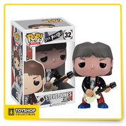 The perfect addition to your Funko collection this official Funko Pop! Sex Pistols Steve Jones figure is packed with cool detail. Series 32 this Sex Pistols figure is made with the official Funko vinyl material. Seen wearing his trademark leather jacket, tight red pants and God Save The Queen t-shirt. This Funko Pop! Sex Pistols Steve Jones figure measures 3.3/4 inches and is presented in a widow box packaging
