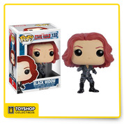 Whose side are you on? From the Captain America: Civil War film comes Black Widow as a Pop! Vinyl Figure. Standing at 3 3/4-inches tall, Black Widow is displayed in her movie-accurate costume and is also a bobble head to boot! Natasha Romanova stands in a window display box. Ages 3 and up.