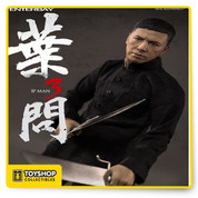 "Based on the latest Kung Fu movie Ip Man 3, newly developed head sculpt with authentic and detailed likeness of Ip Man.Accurate facial expression with detailed wrinkles and skin texture, the head sculpt is hand-painted with newly developed ""multi-layer"" paint application. Newly developed action body with more than 30 points of articulations which can represent Ip Man's signature poses. Signature costumes include: a black Chinese suit with black pants, a grey Chinese long gown, a pair of white socks and black shoes plus full more accessories"