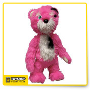 A replica of the bear used in Season . The pink teddy bear is a recurring motif in Breaking Bad, appearing in several episodes of the show's second season. Its missing eyeball appears later in the series, as Walt kept it in his possession. The meaning and symbolism of both the bear and the eyeball are debated, and are open to interpretation. 18 inch