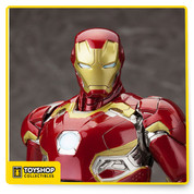 Avengers: Age of Ultron Iron Man Mark 45! Robert Downey Jr.'s iconic Stark has been very busy, cranking out dozens of different armor designs for any eventuality. And after fierce battles and the removal of J.A.R.V.I.S. (now reconfigured into the Vision) from his systems, Iron Man debuted the Mark 45 for the final fight against the evil robot Ultron in Sokovia. Sculpted by M.I.C., Iron Man Mark 45 stands 12-inches tall (1:6th scale) on a special Avengers logo display base. No Iron Man collection would be complete without this ultimate expression of the armor from Avengers: Age of Ultron, and the Mark 45 looks fantastic to join alongside previous suits like the Mark 43.
