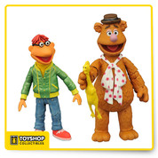 The Muppets are hotter than ever, Fozzie with Scooter figure line from DST Series 1 . Each figure is in the Select action figure scale, and ranges from 2 to 6 inches tall, with multiple points of articulation. Each multi-pack comes in the famous display-ready Select packaging, with spine artwork for easy shelf reference.