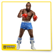 Celebrate 40 years of the phenomenally successful Rocky saga as well as the recent Creed movie with NECA! The National Entertainment Collectibles Association is relaunching their Rocky action figure line, with a mix of amazing figures and sold-out favorites for those who might have missed out. Series 1 focuses on Rocky III, in which Rocky Balboa fights and is beaten bloody by Clubber Lang, losing his world championship. This 7-inch scale figure of Clubber Lang in blue trunks is a re-issue of the original figure, and features special window box packaging that both celebrates the 40th Anniversary while also preserving the value of the original release for collectors. Fully articulated, Clubber is ready to take his one-in-a-million shot at the dream!