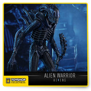 From Sideshow and Hot Toys,  sixth scale collectible figure of the Xenomorph's attack force – the Alien Warrior!   The movie-accurate Alien Warrior sixth scale collectible figure is specially crafted based on its image in the film. Featuring a newly developed head sculpt with an extendable inner jaw, a newly sculpted Xenomorph body with meticulous details, special blueish colored painting on its body, a bendable tail, Xenomorph blood effect parts, and a specially designed diorama figure stand.