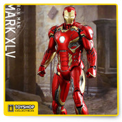 The Mark XLV is the 300th Hot Toys Movie Masterpiece Series collectible figure and it is also the latest addition to the MMS Diecast Series. The figures are made of diecast material, and realistically designed to look even more like the armor as it appears in the film. The movie-accurate Mark XLV Collectible Figure is highly detailed and sophisticatedly crafted based on the image of the armor in the film; featuring a meticulously sculpted armored body, specially applied metallic red, gold and silver colored paint with weathered effects, LED light-up Arc Reactor with hexagonal-shaped indent on chest, and a specially designed diorama base with a detachable damaged Ultron Sentry (Prime)!