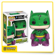 The villains of Gotham are dressing up like Batman and pretending to be the famed Caped Crusader! This Batman Impopster Riddler Pop! Vinyl Figure features the Riddler applying his style to Batman's classic costume. The Batman Impopster Riddler Pop! Vinyl Figure measures approximately 3 3/4-inches tall and comes packaged in a window display box. Ages 14 and up.