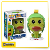 K-9 from the Looney Tunes series Duck Dodgers! Duck Dodger's faithful companion, K-9 Kaddy, gets the Pop! Vinyl treatment. The Duck Dodgers K-9 Pop! Vinyl Figure measures approximately 3 3/4-inches tall and comes packages in a window display box.