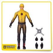 Who is the Reverse Flash? Streaking out of the hit series Flash comes the Flash TV Series Reverse Flash Action Figure based on the Warner Bros. TV show on The CW. The Reverse Flash Action Figure has multiple points and a base. Figure measures 6 3/4-inches tall and includes alternate pairs of hands, as well as the Tachyon device. Ages 14 and up.