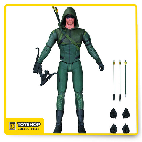 From Season 3 of the hit series Arrow, Oliver Queen is back in action as The Arrow. The 6 3/4-inch tall Arrow TV Series Arrow Season 3 Action Figure, based on the Warner Bros. TV show on The CW has multiple points of articulation and includes multiple accessories, such as multiple pairs are alternate hands, Arrow's latest bow, and 3 special-tipped arrows. Ages 14 and up