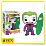 Joker challenges Batman to a surfing contest! This Batman Classic 1966 TV Series Surf's Up Joker Pop! Vinyl Figure features the Clown Prince of Crime as seen in the iconic episode! This figure measures about 3 3/4-inches tall and comes packaged in a window display box.