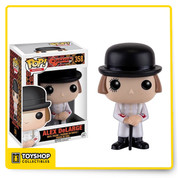 """You can't have a society with everybody in my manner of the night."" Based on Stanley Kubrick's A Clockwork Orange movie, the film's main protagonist and antihero, Alex, becomes a mischievous Pop! Vinyl Figure. The Clockwork Orange Alex Pop! Vinyl Figure comes dressed in his white outfit and black bowler hat. Featuring the likeness of actor Malcolm McDowell, Alex comes packaged in a window box."