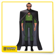 Batman: The Animated Series! Fans of the Batman: The Animated Series and The New Batman Adventures rejoice! Based on the designs of Bruce Timm, comes Batman: The Animated Series Ra's Al Ghul Action Figure and he stands 6-inches tall! Ra's wears his classic green outfit with a cape and features multiple points of articulation. Presented in blister card packaging, Ra's includes a display stand, multiple sets of hands, and the Mask of the Anubis.