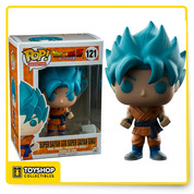 """Super Saiyan God Super Saiyan Goku from Dragon Ball Z: Resurrection 'F' is given a fun, and funky, stylized look as an adorable collectible vinyl figure!  3 3/4"""" tall"""