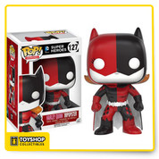 The villains of Gotham are dressing up like Batman and Batgirl! This Batman Impopster Batgirl Harley Quinn Pop! Vinyl Figure features Harley's signature colors applied to Batgirl's classic costume. The Batman Impopster Batgirl Harley Quinn Pop! Vinyl Figure measures approximately 3 3/4-inches tall and comes packaged in a window display box.