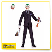 Greg Capullo's version of The Joker features multiple points of articulation & themed accessories.DC Comics Designer Series 4