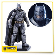 Iron studios is proud to release its limited edition Armored Batman from Batman v Superman: Dawn of Justice! This 1:10 scale model is sure to impress with its hand-painted detailing and polystone base - all modeled after the original movie references! Product also comes with a base for display. Measures approximately 7-inches tall. Ages 15 and up.