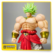 Dragon Ball Z S.H. Figuarts: Broly SDCC Exclusive - Banda SDCC 2016 Bandai Dragon Ball Z Broly S.H. Figuarts (Premium Color Edition)  comes in at approximately 7.5 Inch high, appropriately taller than other S.H.Figuarts Dragon Ball characters , He comes with two facial expression parts including one maniacal smirking face and the other being a berserk-like scream.  Additional parts include three unique energy-sphere effect parts and interchangeable hand pieces