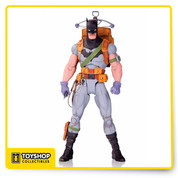 "Based on the designs from the best-selling artist, Greg Capullo, comes this DC Comics Designer Series Survival Gear Batman by Greg Capullo Action Figure! The Dark Knight has multiple points of articulation and is equipped with survival gear as seen in the ""Zero Year"" story arc! This awesome action figure comes in a window box and measures nearly 7-inches tall!"