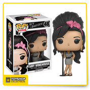 The soul singer and song-writer, Amy Winehouse, is back and in Pop! Vinyl format. Donning her famous beehive, Amy will look jazzy as a part of your Funko collection. The Amy Winehouse Pop! Vinyl Figure measures approximately 3 3/4-inches tall and comes packaged in a window display box.