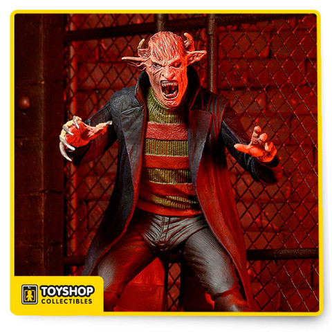 This time, staying awake won't save you. Introducing an all-new Freddy Krueger action figure from Wes Craven's New Nightmare!     The seventh film in the Nightmare on Elm Street franchise took the iconic character in a more menacing direction – closer to Craven's original intentions for Freddy. This 7″ scale figure features a completely new and improved sculpt with over 25 points of articulation. It comes with an alternate head and removable hat.