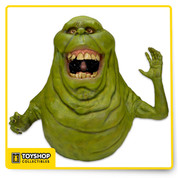 This actual size foam Slimer replica figure is based on the 1984 Ghostbusters movie and was re-created from original movie molds. The figure measures 3 feet tall and is made of foam rubber and latex that's carefully hand-painted for realistic detail. Ships in one box, some assembly required