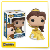 Be our guest and get this Disney Princess! From the classic Disney movie, the Belle Pop! Vinyl figure has been redesigned wearing her beautiful yellow dress. The Beauty and the Beast Belle Gown Version Pop! Vinyl Figure measures approximately 3 3/4-inches tall and comes packaged in a window display box.