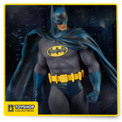 A classic returns! Based on one of our most popular DC Comics collectibles to date, Sideshow Collectibles is proud to introduce the 'Modern Age' version of the Batman Premium Format™ Figure. Featuring the Dark Knight disguised in his blue and grey costume with yellow Bat emblem and utility belt. Towering over two feet tall, the Caped Crusader stands atop a stone gargoyle, looming over the insidious criminals of Gotham City. Expertly crafted and hand-painted, this dynamic figure features two unique head sculpts, including a new portrait inspired by his comic book appearances of the 80's and 90's.